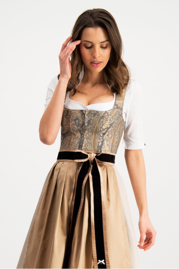 Dirndl Filipa 70cm (anthrazit-gold)