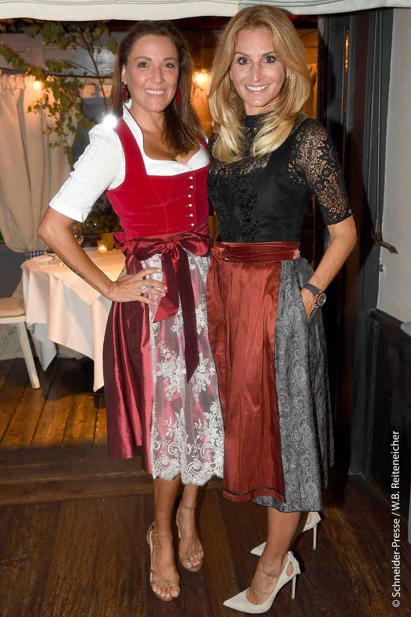Simone Ballack mit Sandra Abt - AlpenHerz Dinner 2020